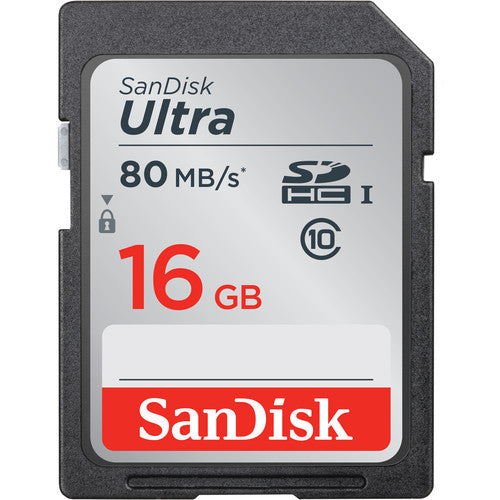 Sandisk 16GB Ultra SDHC memory card for camera