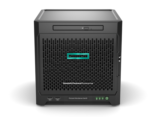 HPE 873830-421 ProLiant MicroServer Gen10 X3216 1P 8GB-U 4LFF NHP SATA 200W PS Entry Server