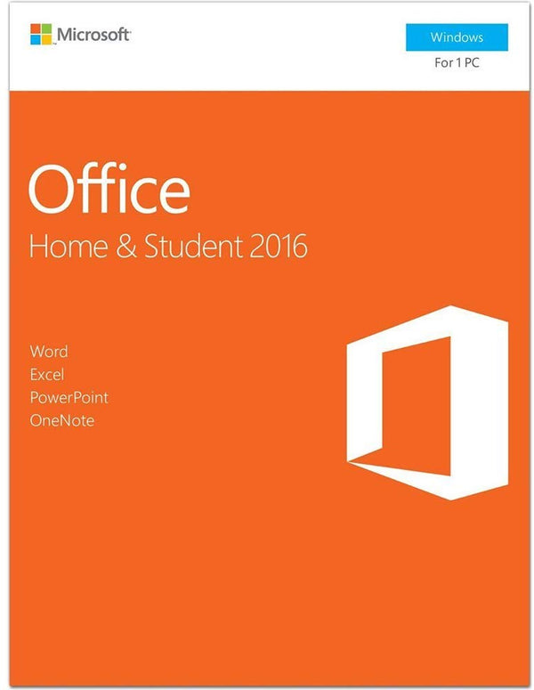 Microsoft Office 2016 Home and Student Windows English 1 User Key Card - 79G-04673
