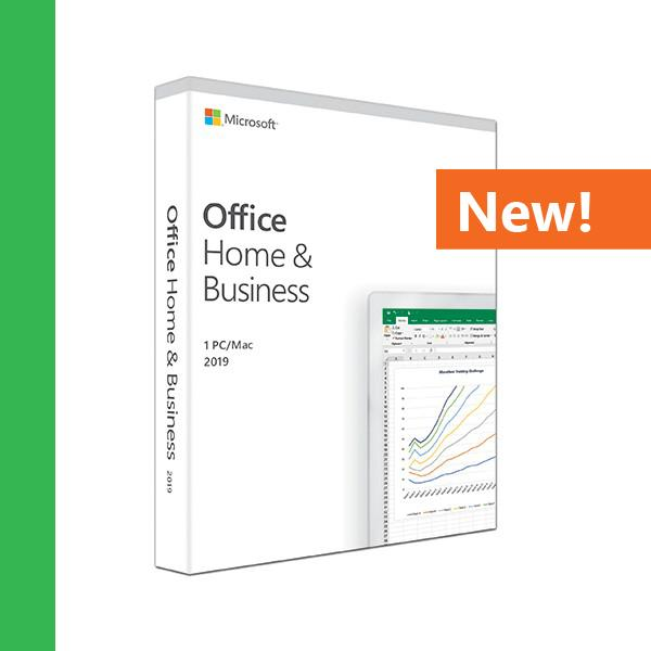Microsoft Office Home and Business 2019 1 Person Compatible on Windows 10 and Apple macOS - T5D-03244