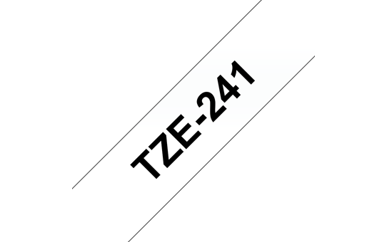 Brother TZe-241 Labelling Tape Cassette – Black on White, 18mm wide