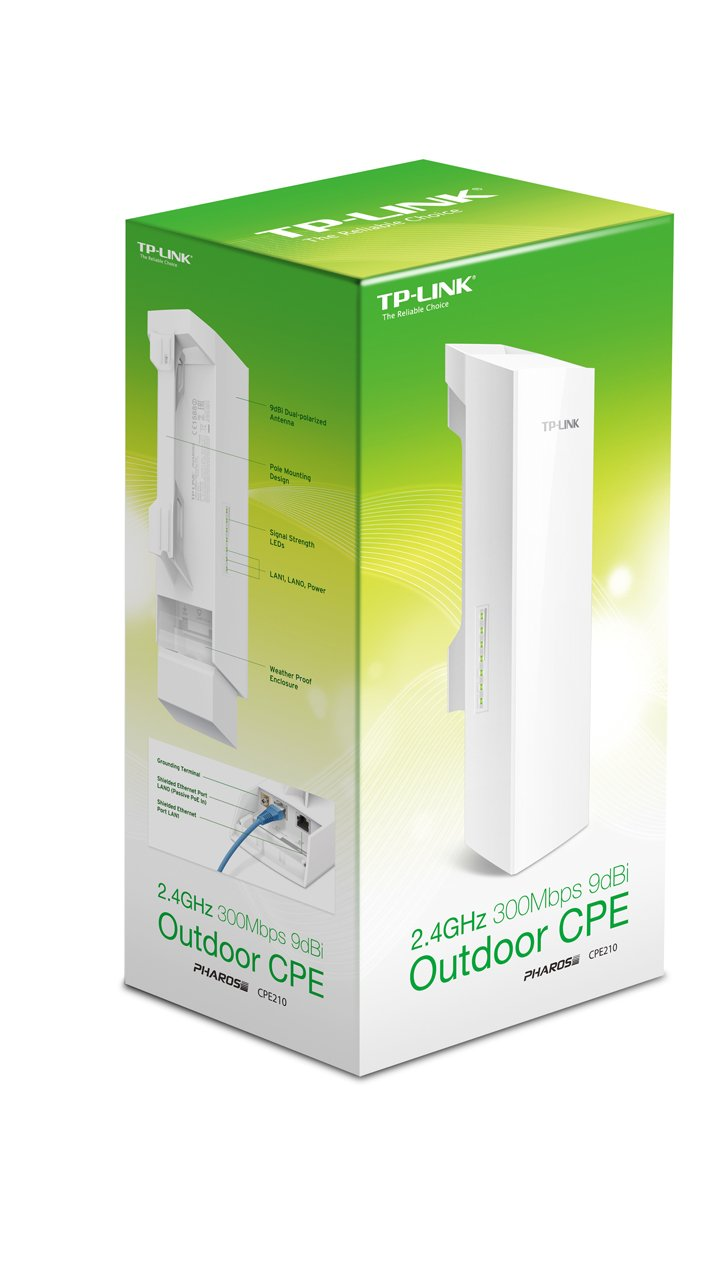 TP-Link CPE210 2.4GHz 300Mbps 9dBi Outdoor CPE
