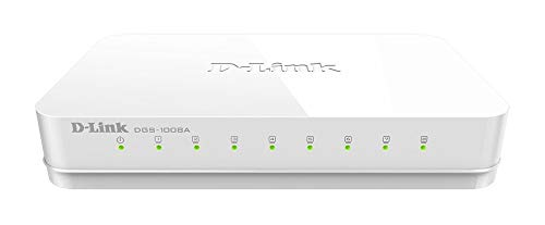 D-Link DGS-1008A 8-Port Gigabit Easy Desktop Switch