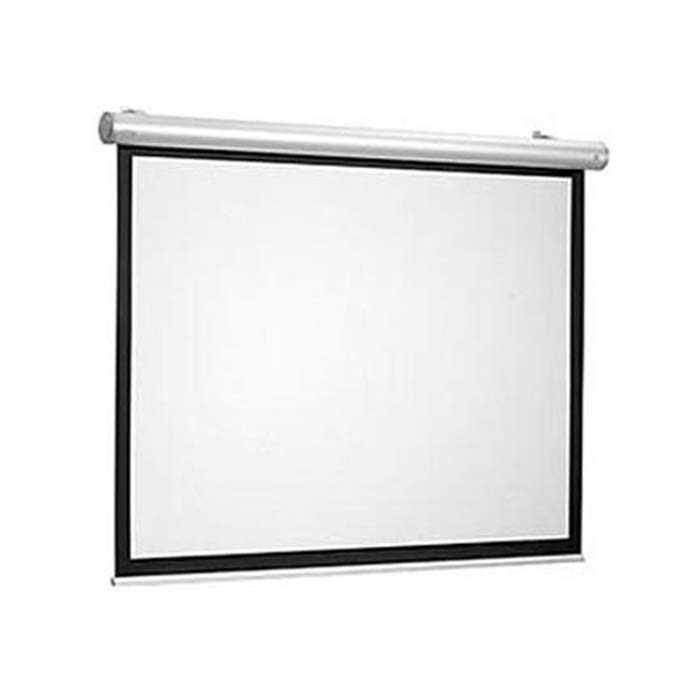 60 x 60 Manual Projection Screen - Wall or Ceiling Mounted - Square Format - Matte White