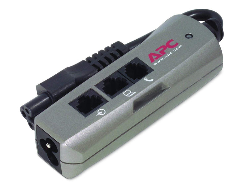 APC Notebook Surge Protector for AC, phone and network lines, 3 pin connection, 100-240V, EMEA