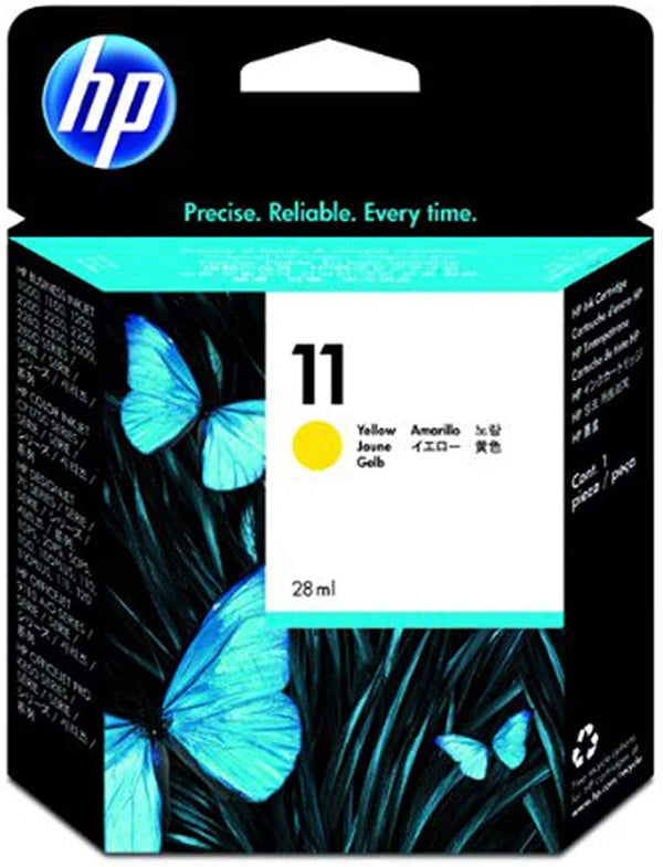 HP 11 Yellow Original Ink Cartridge, C4838A