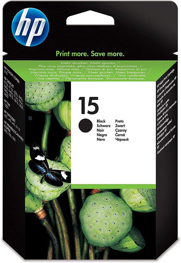 HP 15 Black Original Ink Cartridge (C6615DE)