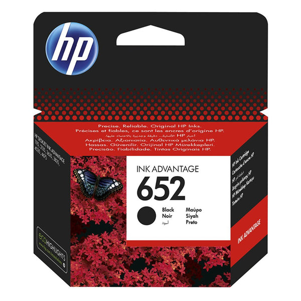 HP 652 Black Original Ink Advantage Cartridge(F6V25AE)