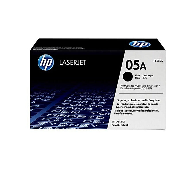 HP 05A Black Original LaserJet Toner Cartridge, CE505A