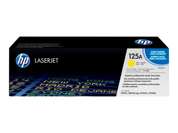 HP 125A Yellow Laser Jet Toner Cartridge – CB542A