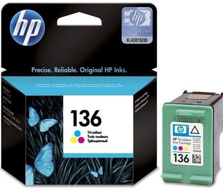 HP 136 Tri-color Ink Cartridge C9361HE