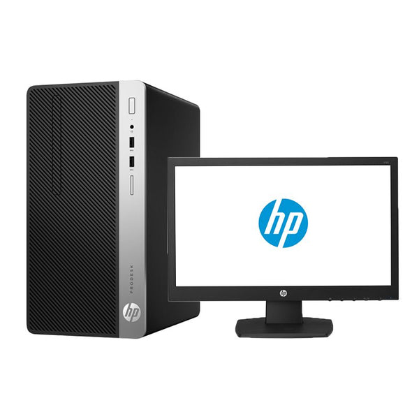 HP ProDesk 400 G5 Microtower PC (5BM23EA) - Intel Core i5-8500, 4GB RAM, 1TB Hard Disk, Free Dos, V197 18.5 Inch Monitor
