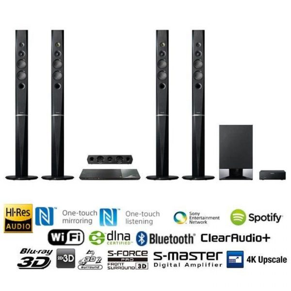 Sony BDV-N9200WL 1200w 3D Blu-ray Home Theater Systems Bluetooth with Wireless Speakers
