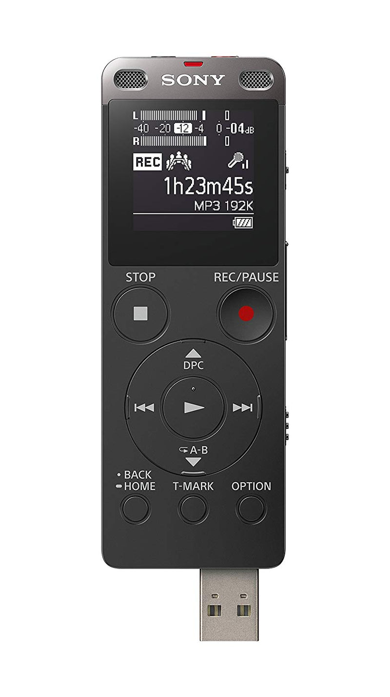 Sony ICD-UX560 Digital Voice Recorder with Built-In USB 4GB