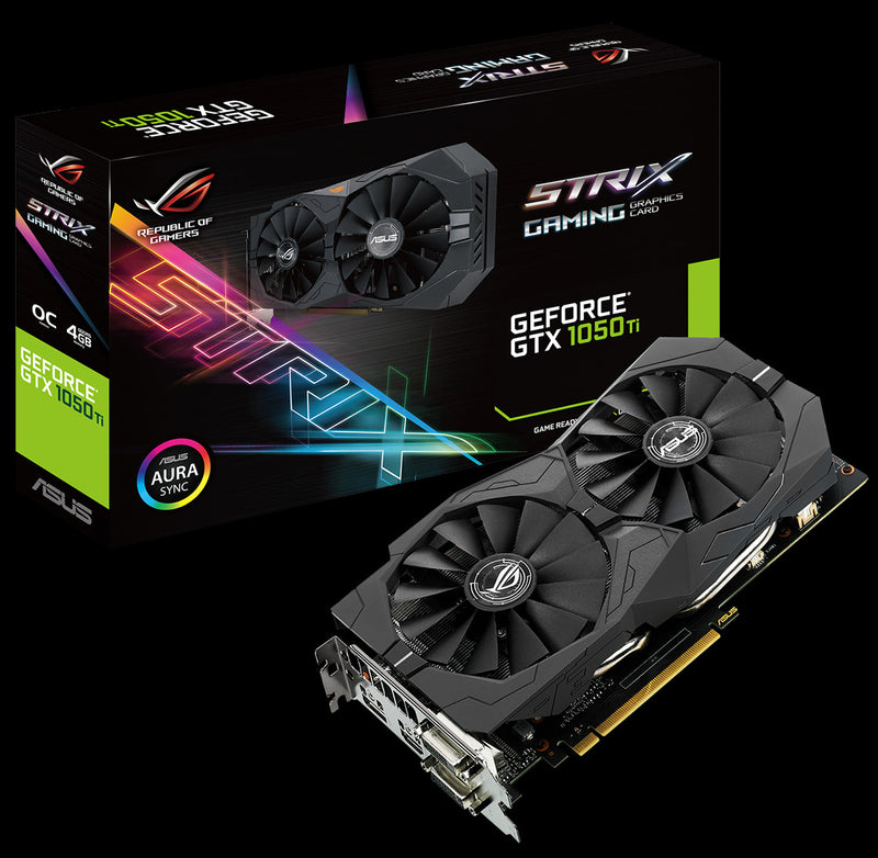 Strix GeForce GTX 1050 Ti SC Gaming, 4GB GDDR5, DX12 OSD Support (PXOC) Graphics Card 04G-P4-6253-KR