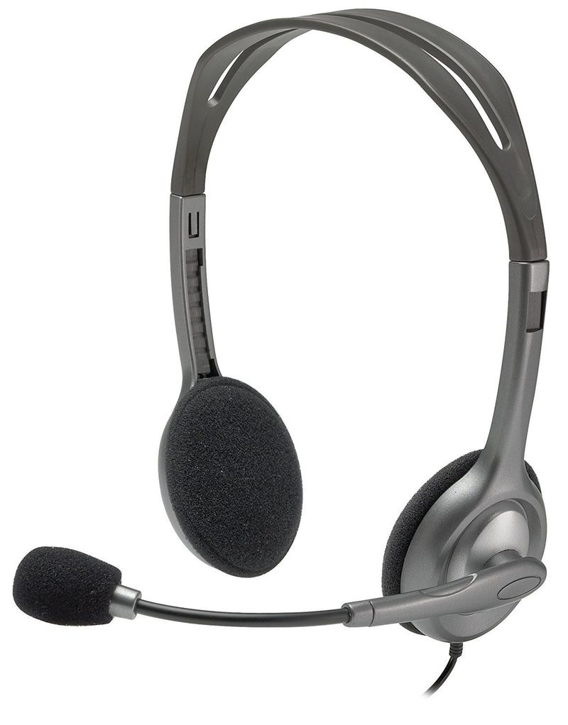 Logitech H110 Stereo Headset with Noise Cancelling Microphone for PC