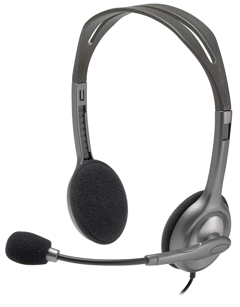 Logitech Stereo Headset H111 with Adjustable Headband and Boom microphone