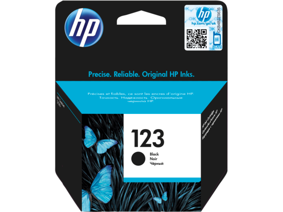 HP 123 Black Ink Cartridge [F6V17AE]