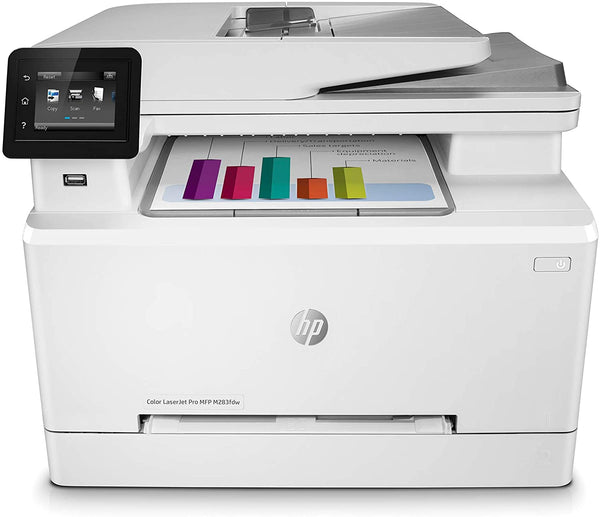 HP Color LaserJet Pro M283fdw Wireless Multifunction printer with Fax, 7KW75A#B19