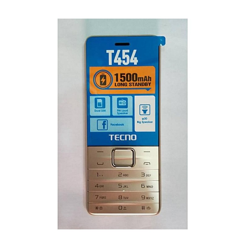 Tecno T454 Dual Sim,2.8″big Screen