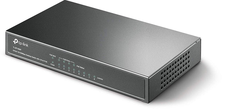 TP-Link TL-SF1008P 8Port 10/100Mbps Desktop Switch with 4 POE Ports