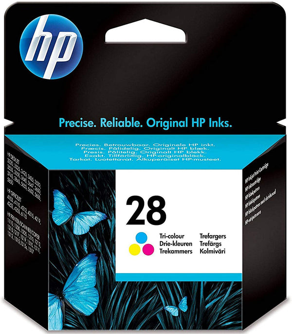 HP 28 Tri-color Original Ink Cartridge, C8728AE