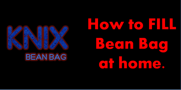 how to fill beans in bean bag.