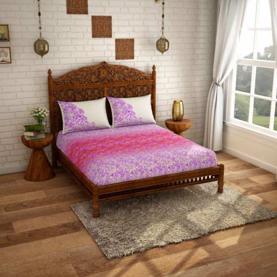 Spaces Double Bed bedsheet | 108 x 108 inches - Knix Bean Bag