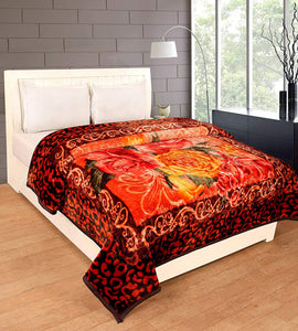 Single Bed Mink Blanket for Winters (ASSORTED PRINTED)