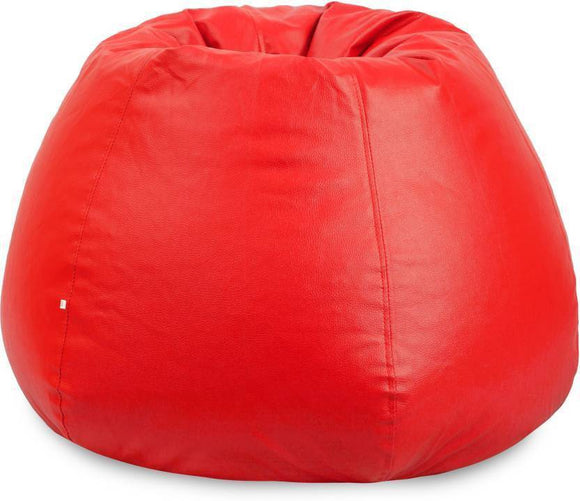 Bean Bag For Adults | Filled Bean Bag | XXXL Size Bean Bag | Red Bean Bag