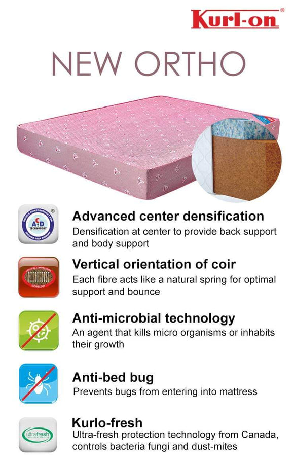 Kurl-on New Ortho mattress . 5 inches | COIR MATTRESS