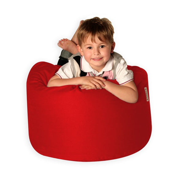 Red Filled XL Bean Bag | With Beans | Filled