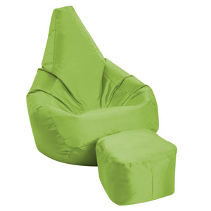 Knix Filled XXXL Bean Bag With Footrest | Green