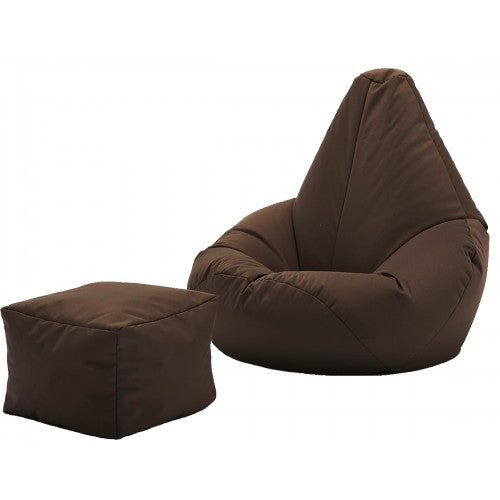 Brown Bean Bag With Footrest | Best Bean Bag | XXXL Filled Bean Bag