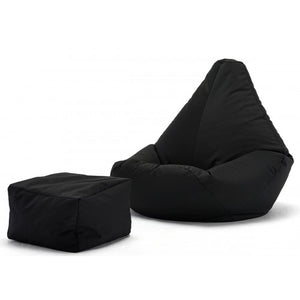 Brown Bean Bag Cover with Footrest