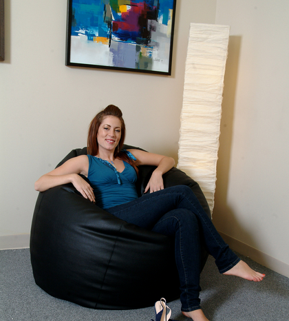 Filled Bean Bag By Knix | XXXL Size Bean Bag | Black Bean Bag