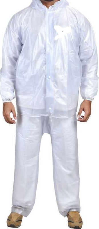 DRC Men's Raincoat (white)