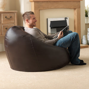 XXL Brown Filled Bean Bag By Knix | With Beans