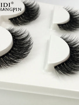 Pairs natural false eyelashes thick makeup