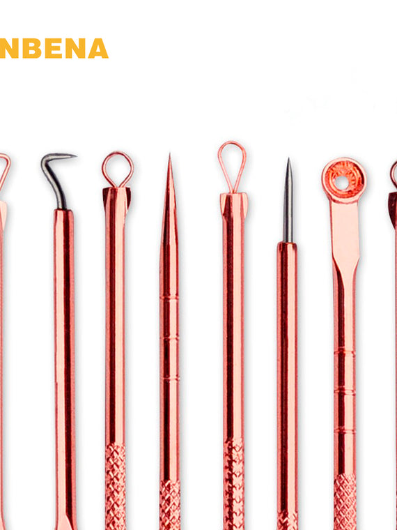 4PCS Rose Gold Acne Removal Needle