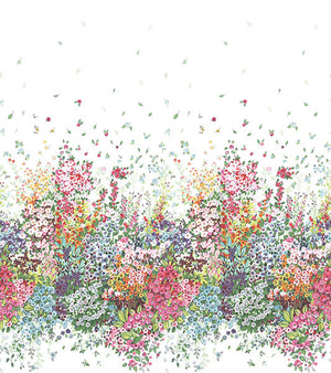 Meadow Multicolor Wall Mural- Flowers of all varieties surround you in a medley of color and scent.