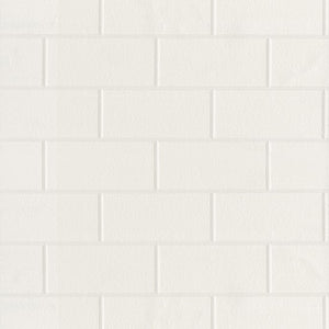 Youtz Paintable Tile Wallpaper-white subway brick tile
