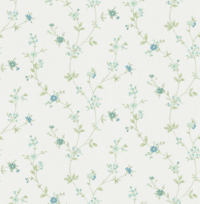 Sameulsson Light Blue Small Floral Trail Wallpaper
