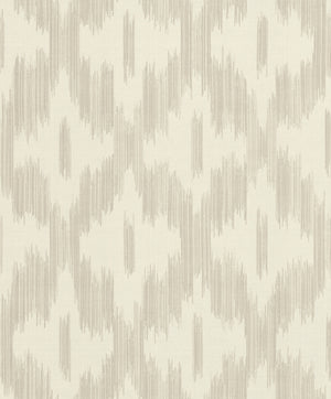 Keller Beige Ogee Wallpaper-This beige and cream ogee print has an intriguing tie-dye effect and textured design.