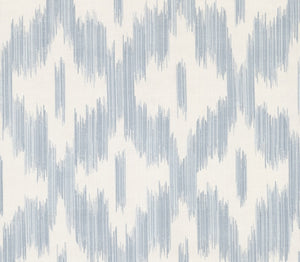 Keller Light Blue Ogee Wallpaper-The interplay of soothing greys, light blues, and cream colors creates a calming ogee print with this tie-dye print.