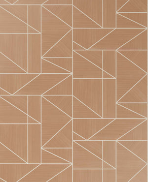Ina Rose Geometric Wallpaper-this geometric rose hue design shines with silver glitter