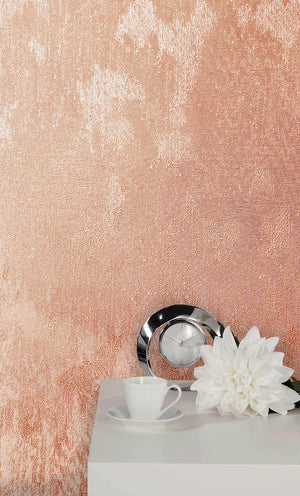 Sanchez Rose Texture Wallpaper-textured design with silver glitter accents.  hung in bedroom