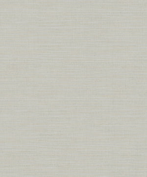 Colicchio Cream Linen Texture Wallpaper- natural hue has raised ink details and shimmering mica accents