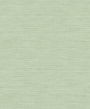 Colicchio Light Green Linen Texture Wallpaper-green wallpaper has the look of linen with soft raised inks and metallic details
