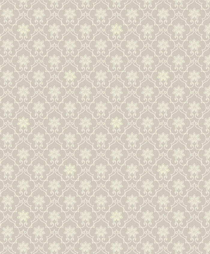 Heston Grey Trellis Wallpaper